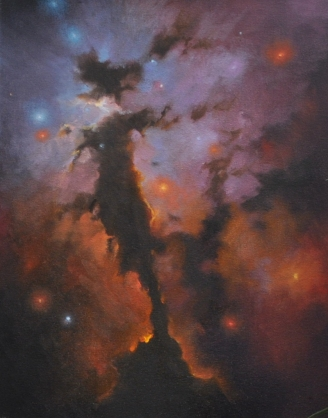 Eagle Nebula 2 (Sold) - 35 x 46cm, oil on canvas