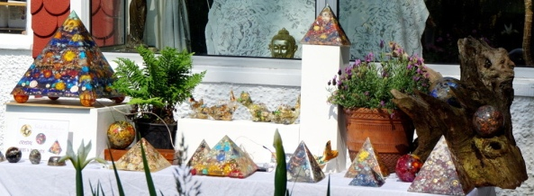 Crystal Pyramids at the Open Garden Day