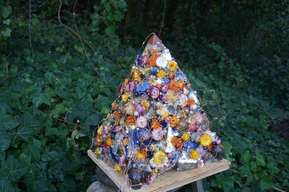 large crystal garden pyramid
